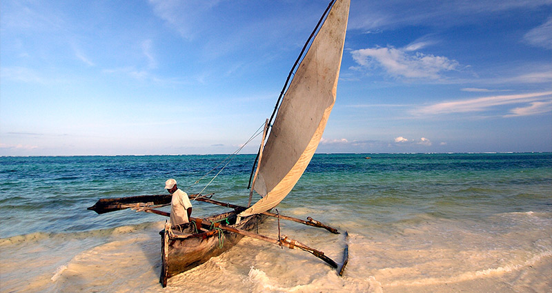 Dhow off the Zanzibar coast - The Zanzibar Collection